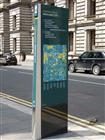 Way finding and information monolith - Glasgow