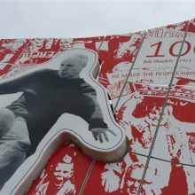 Bill Shankly Memorial at launch (detail)