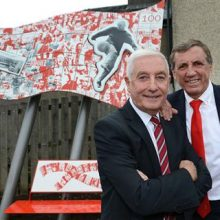 Bill Shankly Memorial at launch was unveiled by Liverpool FC legends, Alan Kennedy and Roy Evans.